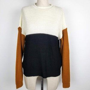 Say What? Colorblock Acrylic Sweater